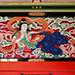 極彩色が美しい中津宮拝殿の彫刻